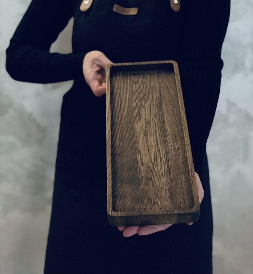 Ozolkoka paplāte 34x14cm, tumšā