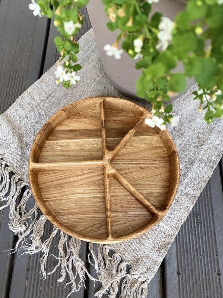 Koka šķīvis Ø26cm apaļš